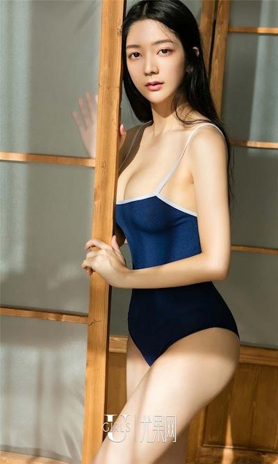 中国美女モデル 小琪(Xiaoqi) セクシースク水画像 2