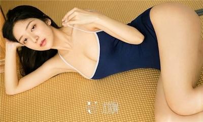 中国美女モデル 小琪(Xiaoqi) セクシースク水画像 8