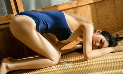 中国美女モデル 小琪(Xiaoqi) セクシースク水画像 9