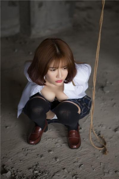 JKコスプレのアジア美女の緊縛ヌード画像 10