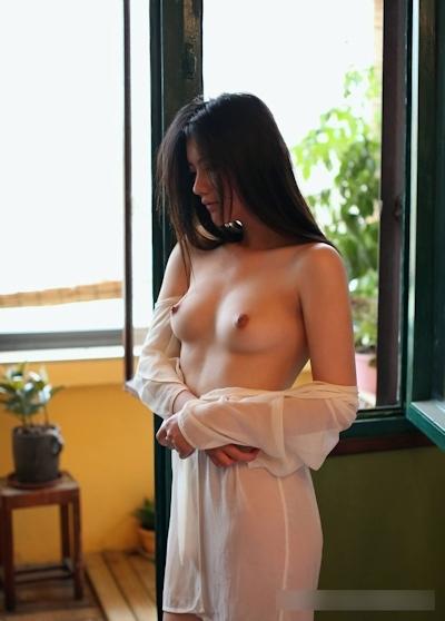 美乳な中国美女モデル 阿朱(Azhu) セクシーヌード画像 6