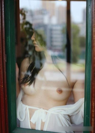美乳な中国美女モデル 阿朱(Azhu) セクシーヌード画像 8
