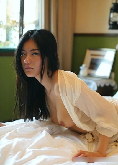 美乳な中国美女モデル 阿朱(Azhu) セクシーヌード画像 14