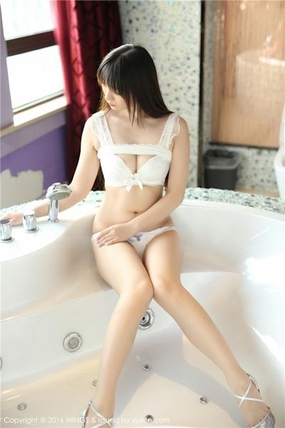 中国美女モデル 啊狸(Ali) セクシーランジェリー画像 14