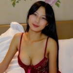 中国美女モデル 木木(Mumu) セクシーランジェリー画像