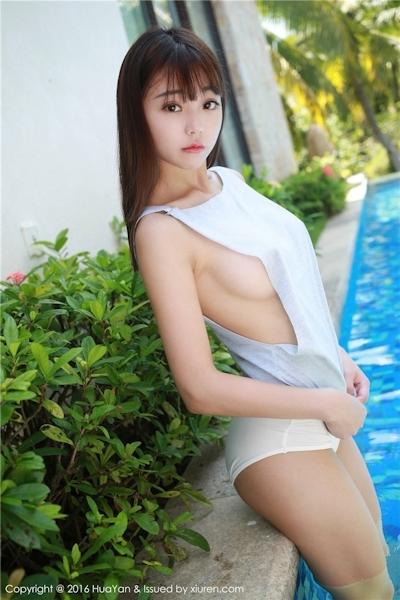 中国美少女モデル 佘贝拉bella セクシー横チチ画像 6