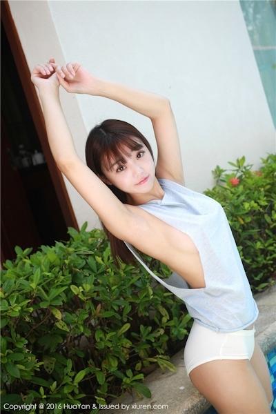 中国美少女モデル 佘贝拉bella セクシー横チチ画像 7