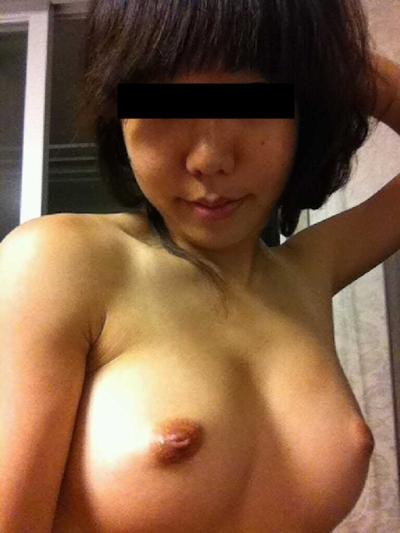 巨乳な台湾の素人美女の自分撮りヌード画像 6