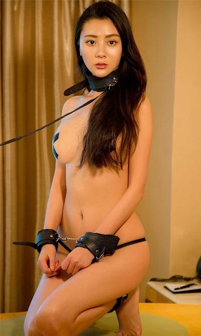 中国美女モデル Lucy 拘束セミヌード画像 7