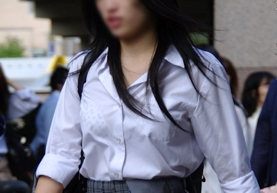 JKの透けブラ画像 23