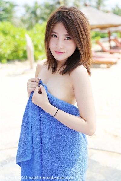 中国美女モデル 许诺(Sabrina) セクシーセミヌード画像 1