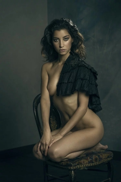 タヒチ出身の美女モデル Emilie Payet(エミリー・ぺイェ) セクシーヌード画像 4