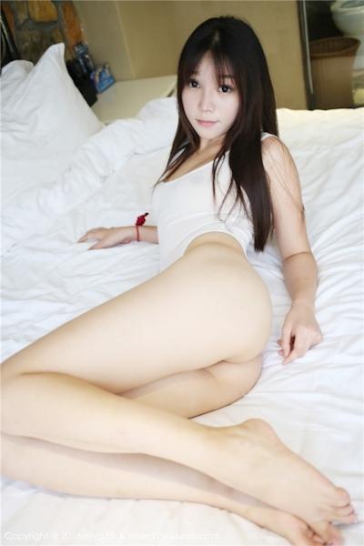中国美女モデル 芝芝Booty セクシーセミヌード画像 3