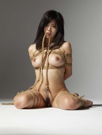 美女の緊縛・拘束ヌード画像 15