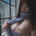 中国の美乳なコスプレ美少女 柚木のヌード画像