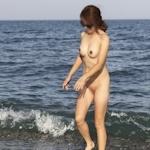 韓国素人女性の野外露出ヌード画像