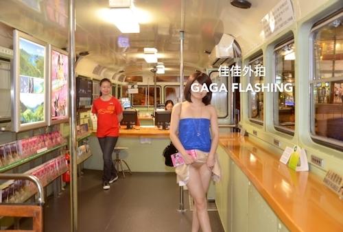 列車や飛行機の中で露出プレイしてる中国女性のヌード画像 2