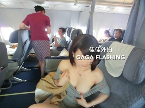 列車や飛行機の中で露出プレイしてる中国女性のヌード画像 11