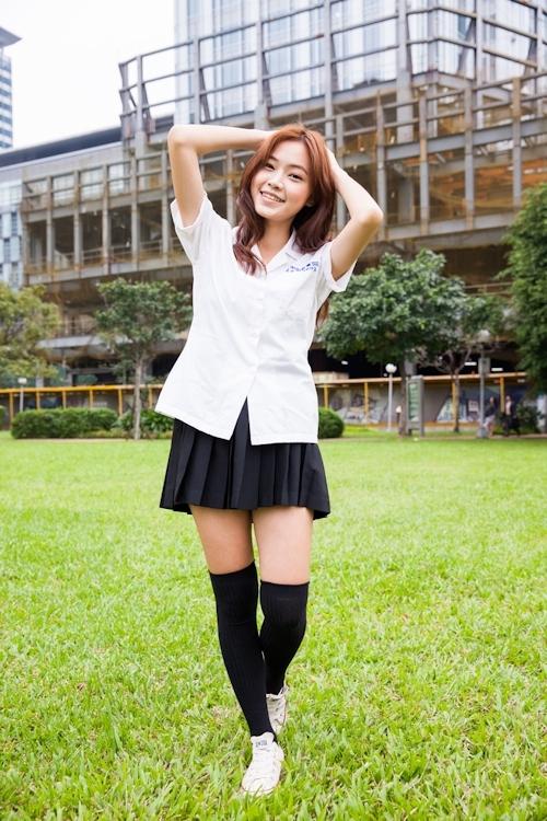 台湾の美少女JKの制服画像 3