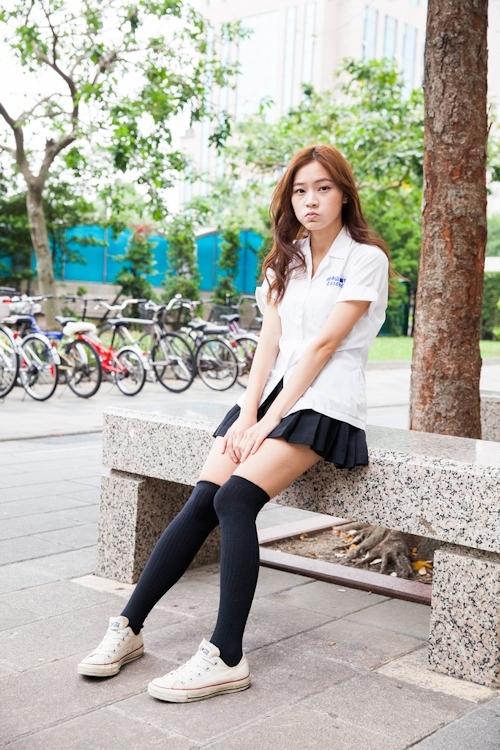 台湾の美少女JKの制服画像 4
