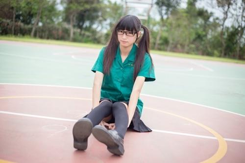 台湾の美少女JKの制服画像 9