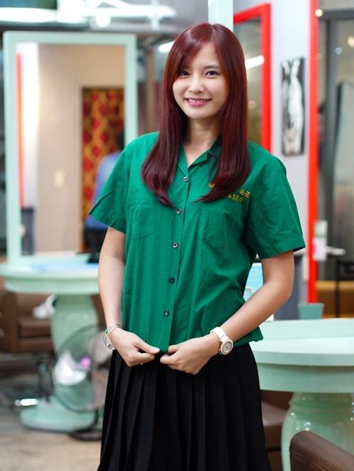 台湾の美少女JKの制服画像 13