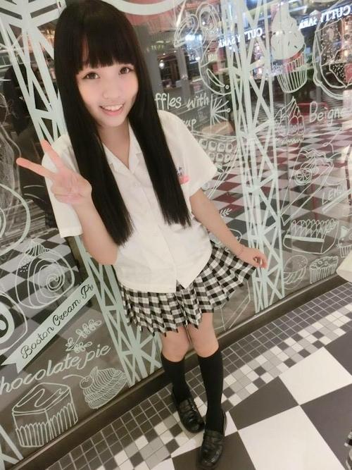 台湾の美少女JKの制服画像 27