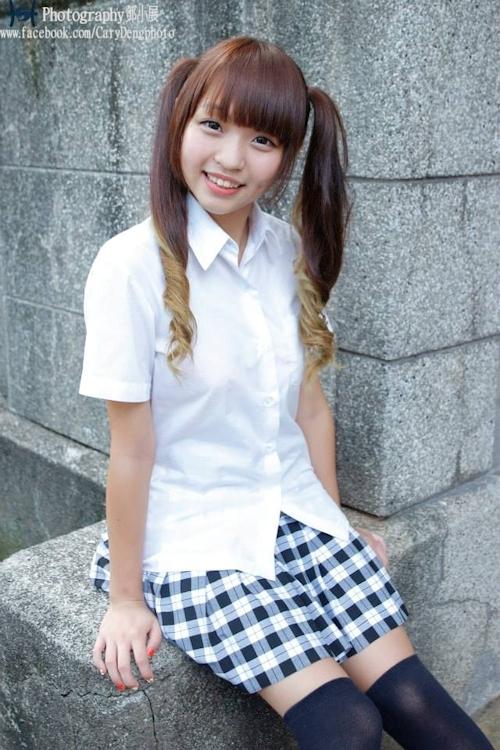 台湾の美少女JKの制服画像 28