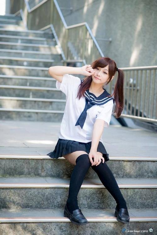 台湾の美少女JKの制服画像 31