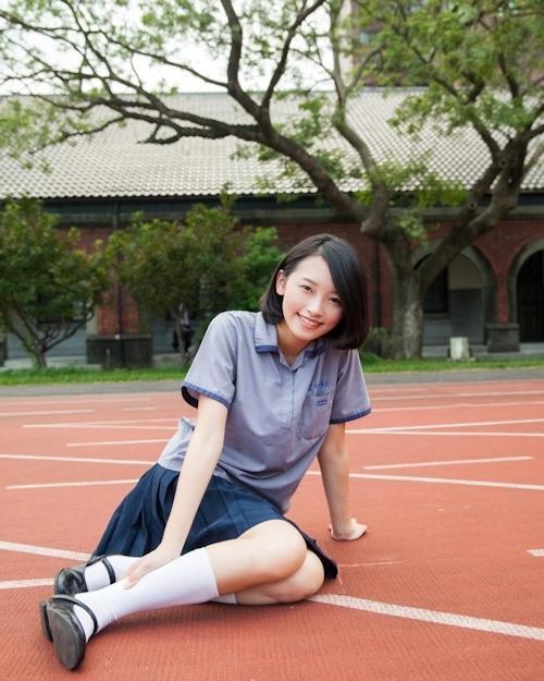 台湾の美少女JKの制服画像 33