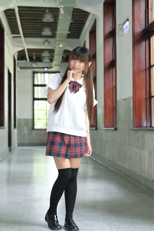 台湾の美少女JKの制服画像 38