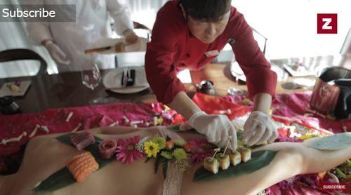 ラスベガス寿司レストラン 女体盛りサービス 2