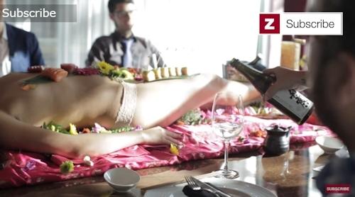 ラスベガス寿司レストラン 女体盛りサービス 6