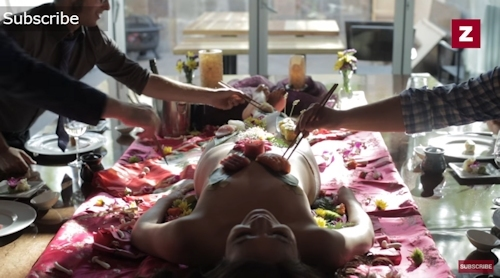 ラスベガス寿司レストラン 女体盛りサービス 8
