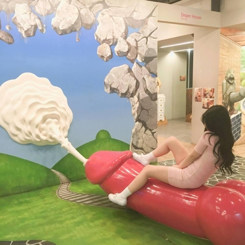 韓国の女の子が性愛美術館(Love Museum)で撮影したユニークなエロ画像 13