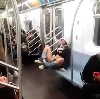 Masturbating In The New York Subway