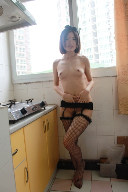 美微乳な中国素人美女のシャワーヌード画像 5
