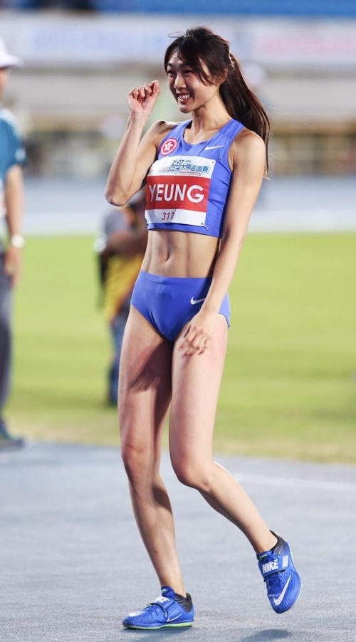 香港の美人走り高跳び選手 楊文蔚(Cecilia Yeung) 1
