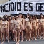 アルゼンチンで100人以上の女性が全裸になって女性への暴力に対する抗議デモ