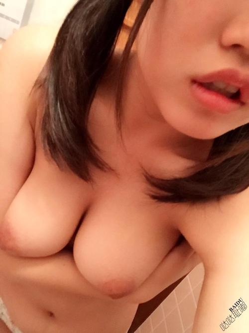 アヒル口な巨乳少女の自分撮りおっぱい画像 7