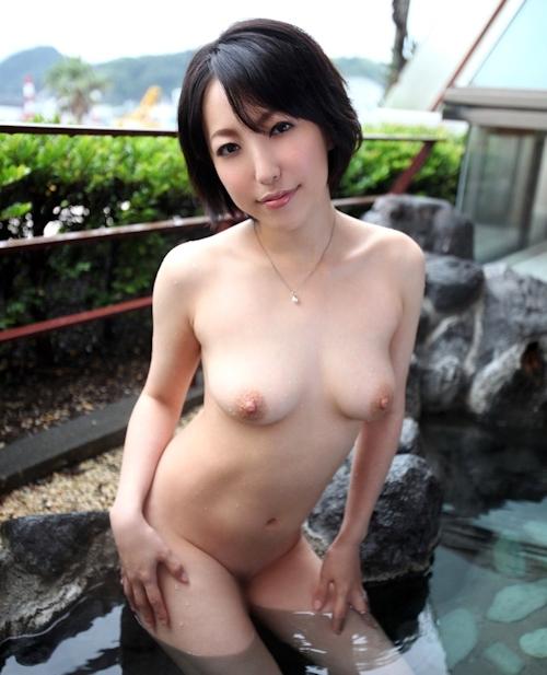 Eカップ美人妻 平野小百合 温泉ヌード&セックス画像 5