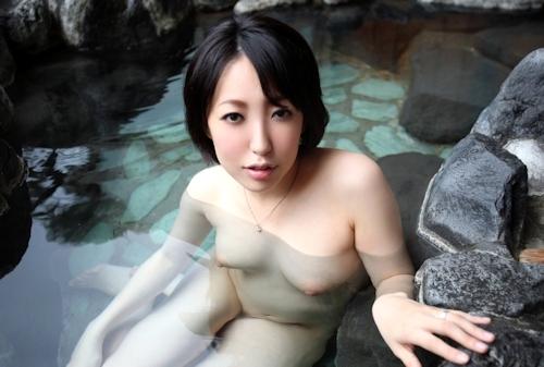 Eカップ美人妻 平野小百合 温泉ヌード&セックス画像 7