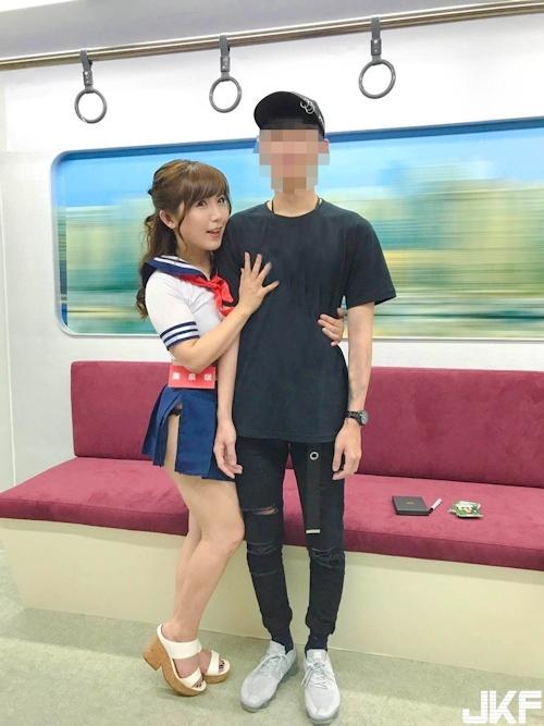 台湾アダルトエキスポ2017で日本のAV女優による逆痴 漢イベントの画像 17