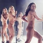 アメリカ女子アイスホッケーチームがヌードを披露