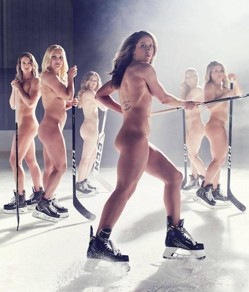 アメリカ女子アイスホッケーチームがヌードを披露 1