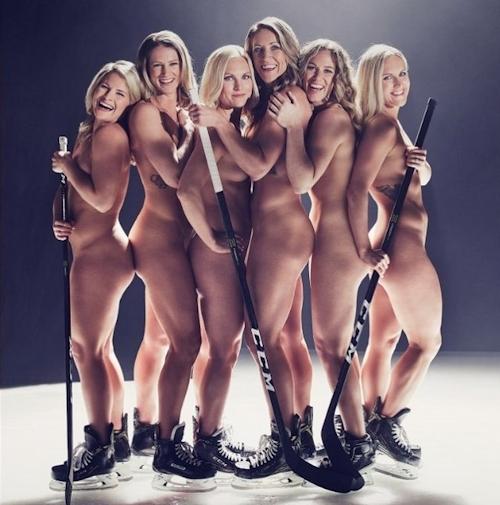 アメリカ女子アイスホッケーチームがヌードを披露 2