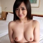 巨乳美女のM字開脚ヌード画像