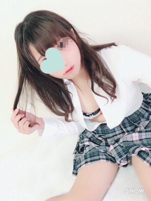 制服美少女の自分撮り下着&ヌード画像 1