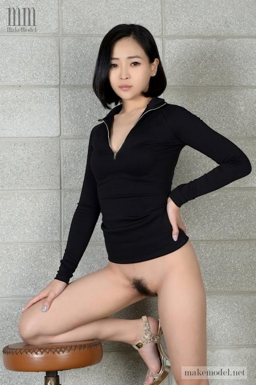 韓国美女モデルのヘアヌード画像 1