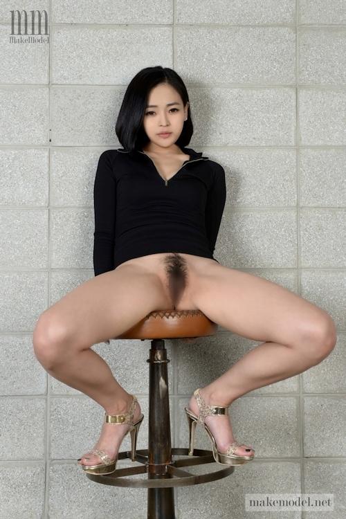 韓国美女モデルのヘアヌード画像 5